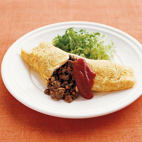 オムレツ ひき肉 入り 母の味☆ひき肉オムレツ レシピ・作り方