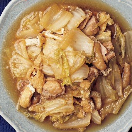 鳥 もも肉 白菜 白菜と鳥もも肉の出汁醤油煮 レシピ・作り方 by...